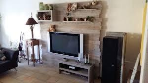 Faire Un Meuble Tv En Palette by Pallet Entertainment Center Wall Meuble Tv En Palette U2022 1001 Pallets