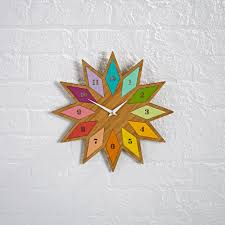 Chromatic Bamboo Wall Clock The Land Of Nod