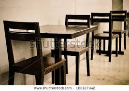 Wooden Table Chairs Wooden Tables Chairs Coffee Shop Stock Photo 106127942 Shutterstock