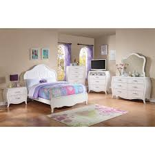 White Bedroom Dressers With Mirrors Danielle Bedroom Bed Dresser U0026 Mirror White Full 11000