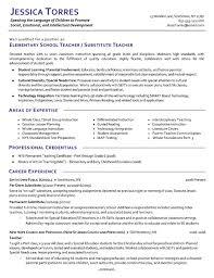 teaching resume samples special ed teaching resume example new