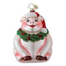 world big pig glass blown ornament worl piggy