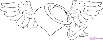 how to draw an angel heart step by step tattoos pop culture