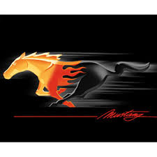 Pictures Of Black Mustangs Mustang Apparel T Shirt Black Running Horse Logo Flames