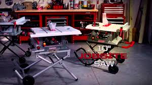craftsman 10 portable table saw craftsman portable table saws youtube