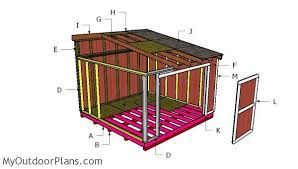 10x16 lean to shed plans myoutdoorplans free woodworking plans