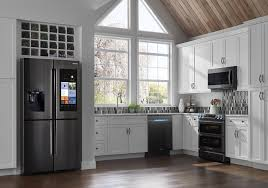 gray kitchen cabinets with black stainless steel appliances the pros of black stainless steel lincorp borchert