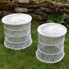 white wicker side table white wicker side table the prop factory sustainable prop hire