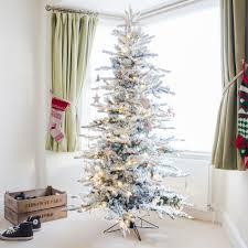 6ft snowy alaskan fir led pre lit artificial christmas tree by