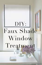 dwell in beauty diy faux window treatment