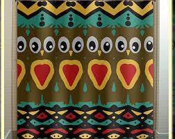 Owl Fabric Shower Curtain Owl Shower Curtain Etsy