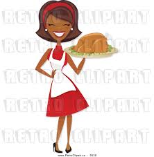 thanksgiving american african american chef clipart 17