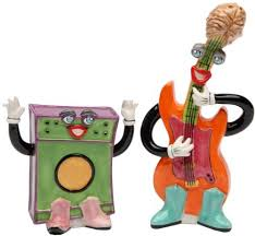 appletree design electric bass and amp salt and pepper set 3 inch