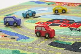 melissa u0026 doug round the town road rug and car activity play set