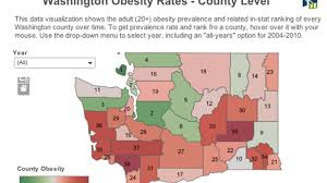 Washington State County Map by Data Visualization Obesity In Washington State Counties