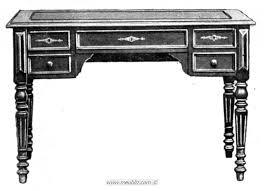 caisse de bureau bureau plat louis xvi à caisse meuble de style