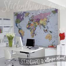 map mural map mural geographical map wallpaper stickythings