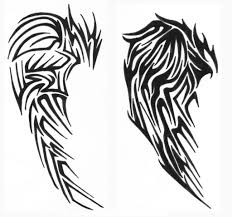 tatoo design tribal fantastic tribal wings tattoo design u2013 tattoo body art picture