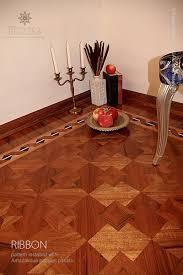 the ribbon hardwood floor border inlay