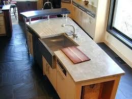 kitchen island with cutting board top kitchen island engineered concrete kitchen island top with farm