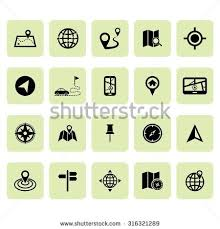 location icons map icons navigation icon stock vector 316321280