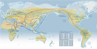 Map Of Africa And Asia by A Map Showing Human Migration Routes Beginning About 100 000 Years