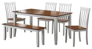 boraam bloomington dining table set amazon com boraam 22034 bloomington 6 piece dining room set white
