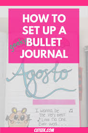 how to set up a bullet journal cuteek