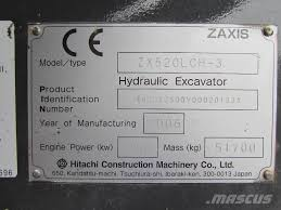 hitachi zx 520 lc h 3 crawler excavators price 83 105 year