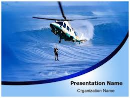 helicopter rescue powerpoint template background