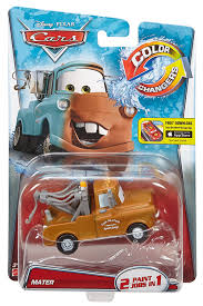 amazon com disney pixar cars color changers mater brown to teal