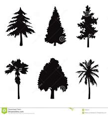 tree shapes royalty free stock image image 27033196