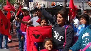 hundreds of people celebrate cesar chavez day in san francisco