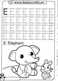 letter e writing practice worksheets funnycrafts