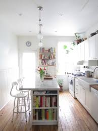 narrow kitchen with island eat in kitchen islands kitchens bright and spaces
