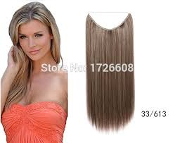 invisible line hair extensions 2016 no clip hair extension natural straight invisible synthetic
