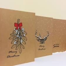 christmas card set christmas cards simple cards reindeer