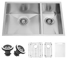 Stainless Steel Grid For Kitchen Sink by Vigo 29 Inch Undermount Stainless Steel Kitchen Sink Two Grids