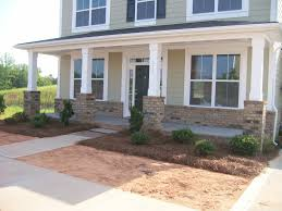 Colonial Front Porch Designs Brick Up The Front Exterior A Little And On The Porch Good For