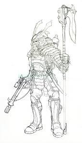 steampunk samurai sketch by witchking08 on deviantart