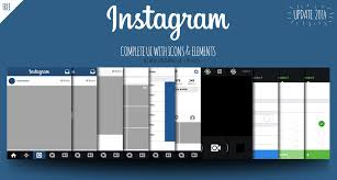 instagram layout vector illustrator free instagram ui ios7 2014 views icons elements on behance