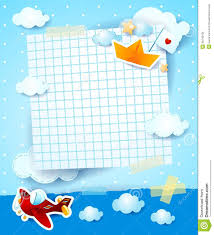 baby shower invitation with airplane and paper boat stock vector