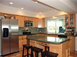 Glazed Maple Kitchen Cabinets Brown Cabinets White Appliances Glazed Maple Kitchen Cabinets