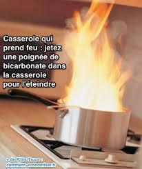 feu de cuisine l astuce à connaître pour éteindre une poêle qui prend feu
