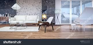 modern interior design living room 3d stock illustration 426740458