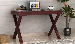 Computer Desk Mahogany Buy Poppy Solid Computer Desk Mahogany Finish In India