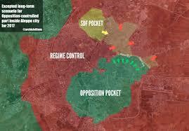 Syria Control Map by Map Aleppo City Syria November 2016 Archicivilians