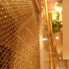 Chain Mail Curtain Welded Stainless Steel Ring Mesh Chainmail Mesh Curtain For Space