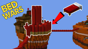 Bed Wars Building A Castle In Bed Wars Youtube
