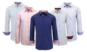 men u0027s long sleeve slim fit shirts groupon